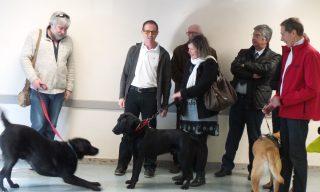 Bernard Verguet et son chien guide Jakass