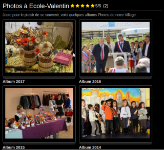 Albums photos sur le Blog