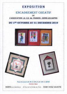 """Exposition  """"Encadrement Créatif"""" de l'Association La Clé de Franois - serre-les-Sapins @ Marpa - Les Valentines"""